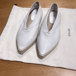 Celine Espadrilles in Optic White color